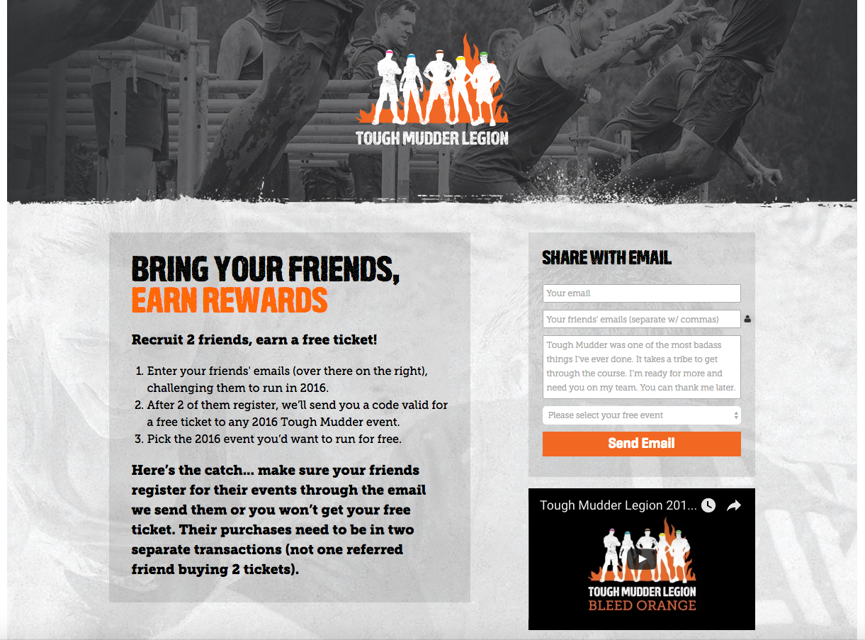 tough mudder refer-a-friend program
